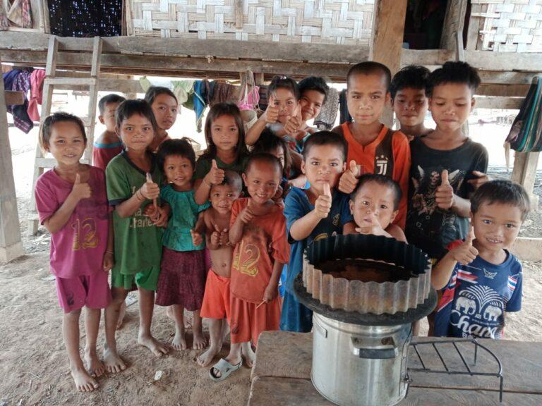 Kids and cookstove
